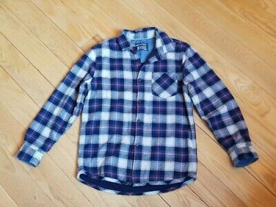 Bnwot Next Boys Navy Check Long Sleeve Casual Shirt Age 9 Years
