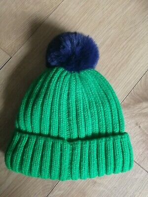 ** NEXT*** Baby Infant Toddler Boys Green warm winter Wooly Hat Age 1-2 Years