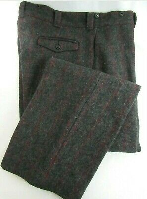 WOOLRICH Vintage Mens Malone Wool Plaid Pants Size 44/30 Gray