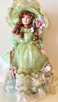 16 Inch Victorian Porcelain Girl Dolls Collectibles Female Figurines Statues