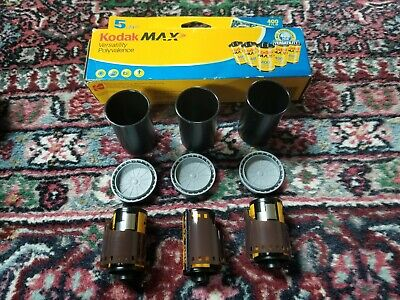 3 Rolls Kodak MAX 400 35mm Color Print Film 24 Exposure