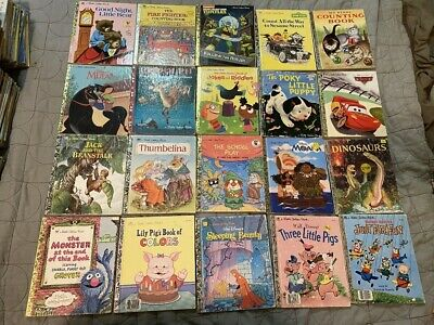 Lot Of 20 Vintage To Newer Little Golden Books Hardcover No Duplicates Lot F