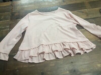 Next Girls Pink Frill Top Age 5 Years