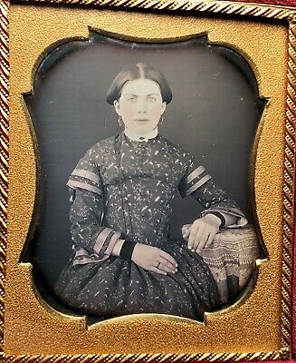 Sixth Plate Daguerreotype of a Beautiful Woman Late 1840s'