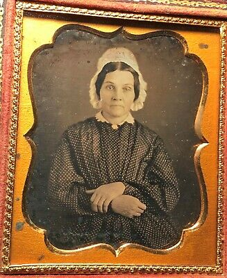 Sixth Plate Daguerreotype of a Lady with Full Case 1840s'