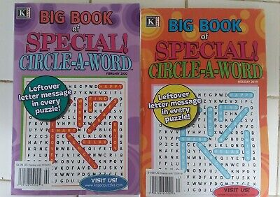 Lot of 2 big book of special  circle-a-word Puzzle books NEW