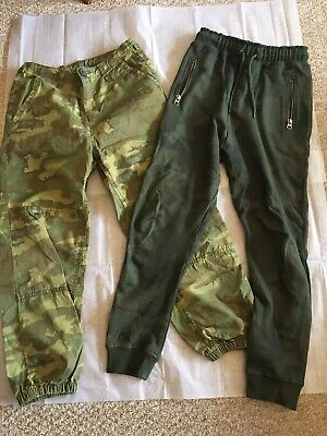 Next Boys Khaki Combat Trousers & Khaki Joggers Aged 9 Years