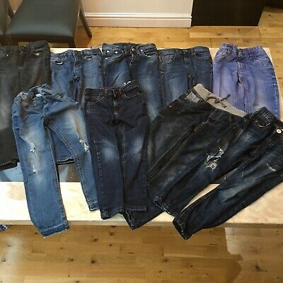 Boys Bundle Of Jeans X9 All Zara Marks Spencer Next Age 5,6,7 & 1xDSquared Too!