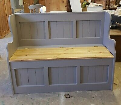 Brand New Handmade Solid Pine 4Ft Monks Bench..farrow&Ball Delivery Available