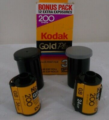 KODAK Gold Plus 200 Color Negative Film ISO 200, 35mm Size, 1x36, 1x24 Expired