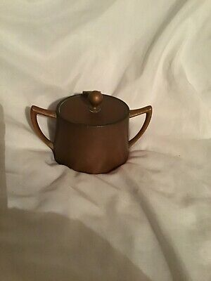 Arts And Crafts Copper And Brass Pot With Lid