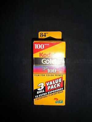 NEW - Kodak Gold Plus 100 Color Print Film 3-Pack - 84 Exposures - GA 135-24-3