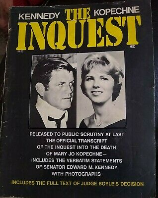 Mary Jo Kopechne Death Edward Kennedy Chappaquiddick Official Inquest Report