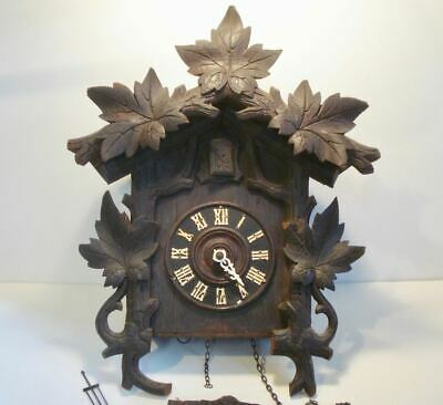 Early German Wanamaker Philadelphia Black Forest Cuckoo Wall Clock
