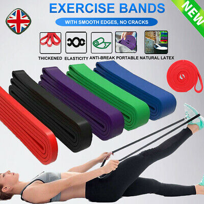 Resistance Bands Assisted Pull Up Band Assist Exercise Workout Yoga Men Women UK