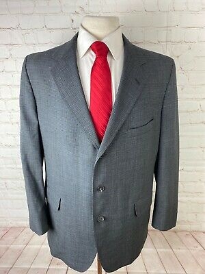 Huntington Men's Gray Textured Blazer 44R $225
