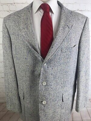 Huntington Mens Plaid Blazer 43 R $225