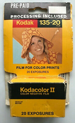 Kodak Kodacolor II Film Expired 1977 pre-paid mailer Color Prints 20 Exp C135-20