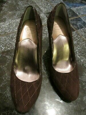 Scholl Brown Suede Leather Wedge Ladies Shoes Size 38 Hardly Worn