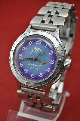 VOSTOK CorNavin AMPHIBIAN Russian Army DIVER watch military USSR Rare Serviced!