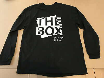 The Box Fm 91.7 New Zealand T-Shirt Nz 100% Cotton Size L Official Hanes Beefy-T