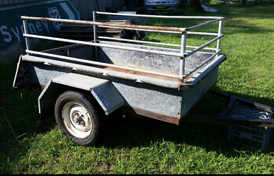 Trailer .6x4 box trailer with high sides