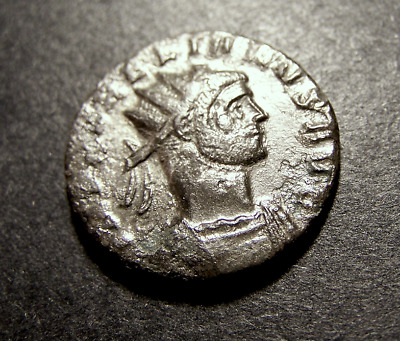 AURELIAN as Radiate Sol w/ Captive from Oriens, Silvered Imperial Roman Coin