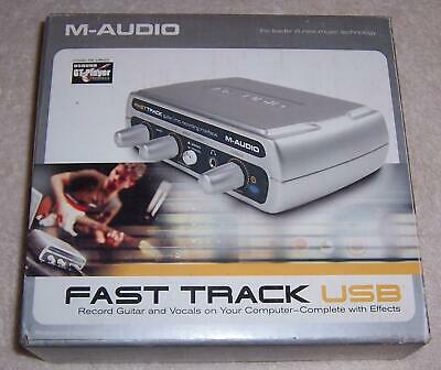 M-Audio Fast Track Guitar Microphone Recording Interface USB Silver XLR