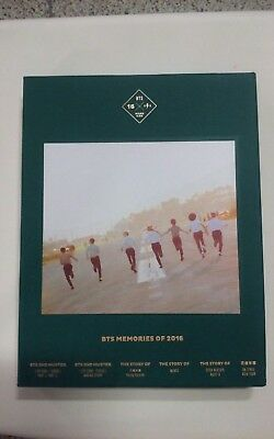 BTS Memories of 2016 DVD 4 Disc Digipak with 188p Photobook + 1 Official Photo