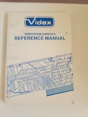 Rare Apple 2 computer Videx Videoterm Owners  Reference Manual