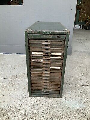 Vintage Industrial Brownbuilt Storage Cabinet; Chest Of Drawers; Filing Cabinet