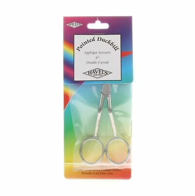 Havels Double Pointed RIGHT HANDED Duckbill Applique Scissors 6in