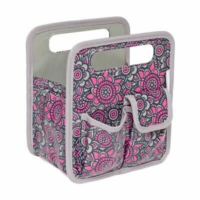 Makers Desk Top Tote Grey/Pink Flowers