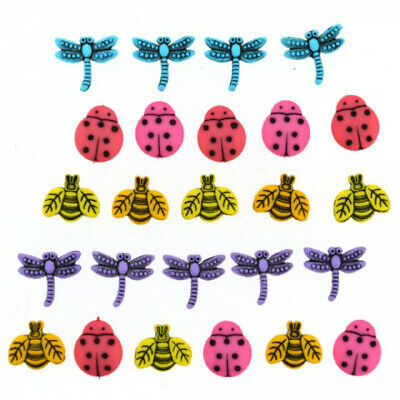 Dress it Up Buttons - Tiny Bugs