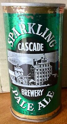Cascade Sparkling Pale Ale. 13FL.OZ. Straight Steel. Beer Can.