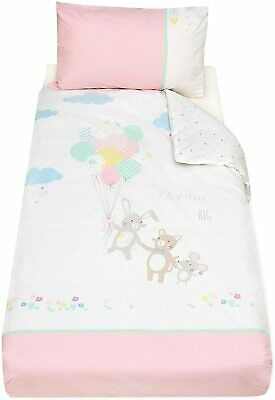 Mothercare Confetti Party Cot Bed / Toddler Bed Duvet Cover and Pillow Case Set