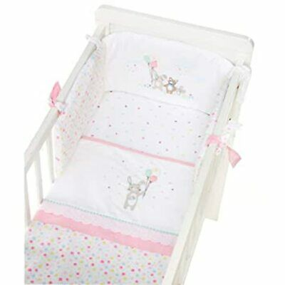 Mothercare Confetti Party Crib Bale 100% Cotton Cot Bumper Coverlet Fitted Sheet