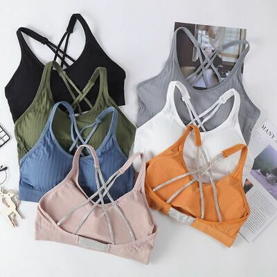 Girls Sports Bra Crop Top Underwear Sexy Seamless Breathable Brassiere Yoga Bras