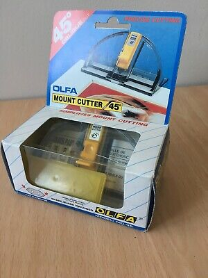 Olfa MC-45 Mount Cutter 45 Degrees Precise Cutting Boxed