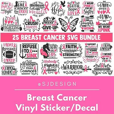 Breast Cancer Awareness Laptop Vinyl Decal Sticker Macbook 11 13 15 17""