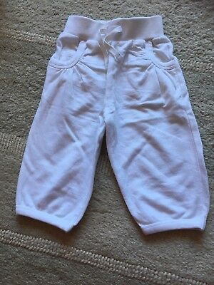 Girls Evie Angel White Jogging Bottoms - Size 1 1/2-2 Years