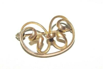 Antique Victorian Art Nouveau Rolled Gold  Brooch /Pin