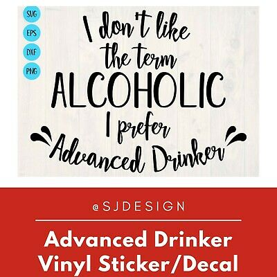 ADVANCED DRINKER  Laptop Vinyl Decal Sticker Macbook 11 13 15 17""