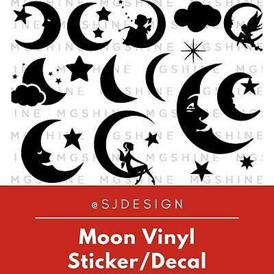 Moon Laptop Vinyl Decal Sticker Macbook 11 13 15 17""