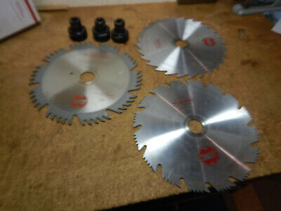 """3 Shopsmith 10"""" Saw Blades With 3 , 1 1/4"""" Blade Arbors Woodworking Tool"""