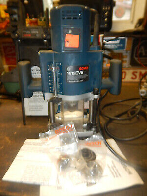 Usa Made Bosch Plunge Router W/ Edge Guide Micro Adjust Knob Collets Box 1615Evs