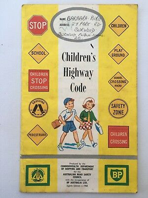 Children's Highway Code 8th Edition 1968 Australian Road Safety Council