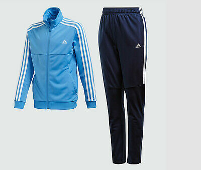 Kids Adidas Tiro Tracksuit set Age 11- 12 jacket top pants blue football NEW