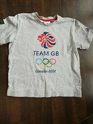 Team GB London 2012 Olympics Kids Tee T-Shirt 7 - 8. Addidas