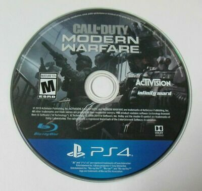 Call of Duty Modern Warfare 2019 - (Sony Playstation 4) - Game Disc ONLY